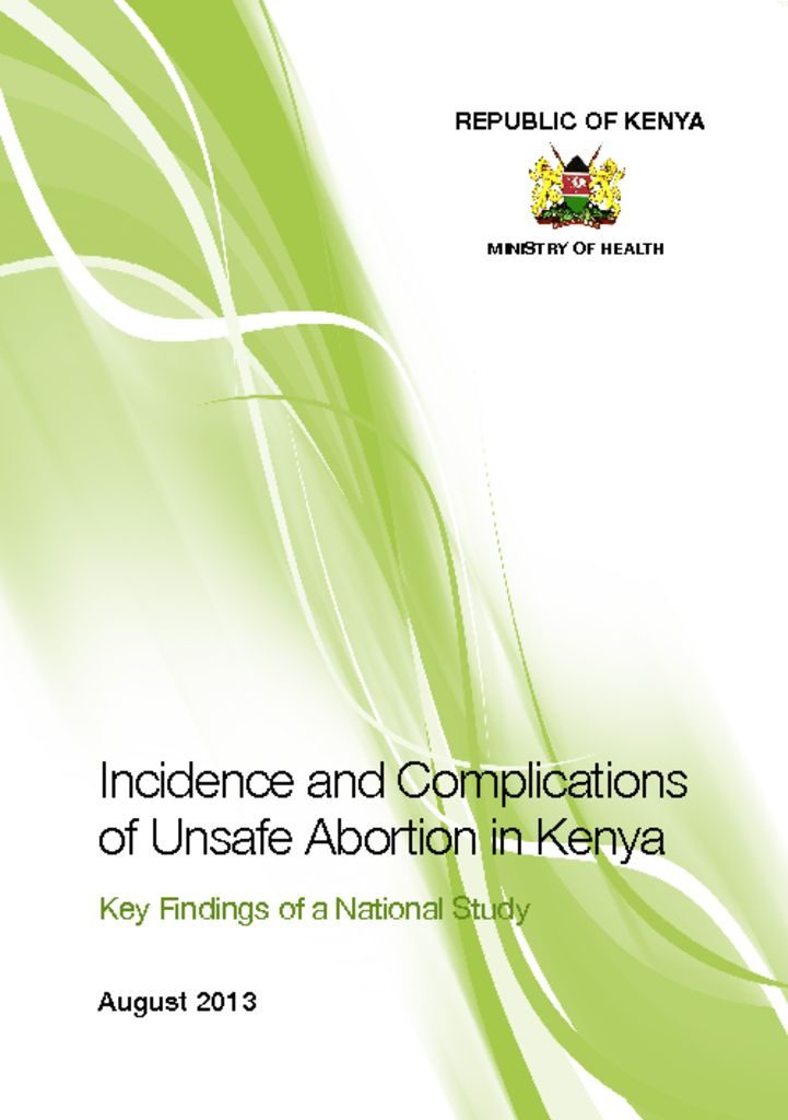 thumbnail of incidences and complications of abortion in-kenya