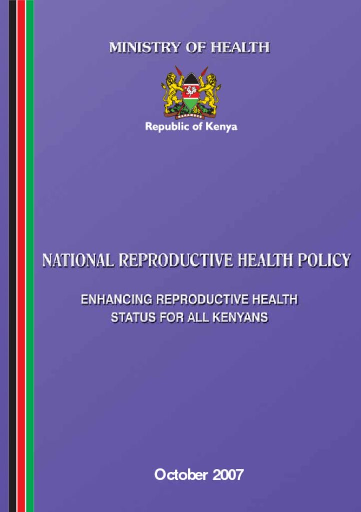 thumbnail of national reproductive health policy booklet_0