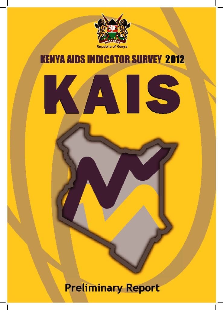 thumbnail of preliminary report for kenya aids indicator survey 2012